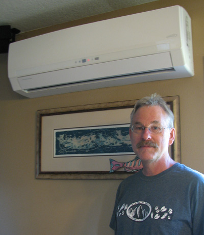 Photo of Glen Ferrier with ductless heat pump