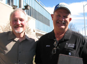 Photo of Mark Karnofski, left, and Mike McComas