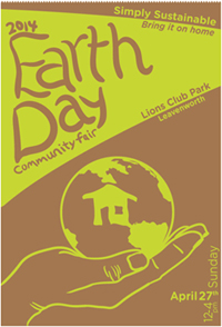 Poster of Leavenworth Earth Day Fair