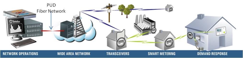Smart metering network graphic
