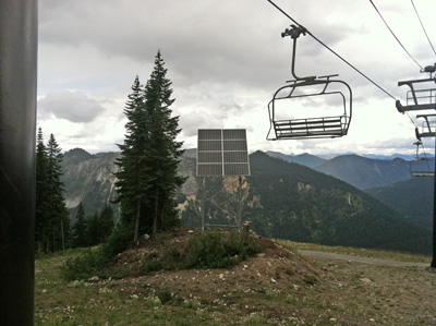 Photo of solar system at Stevens pass Moutain Resort