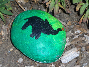 Photo of rock painting - elephant