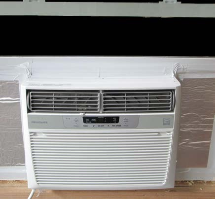 Photo of Window air conditioner insulated and sealed