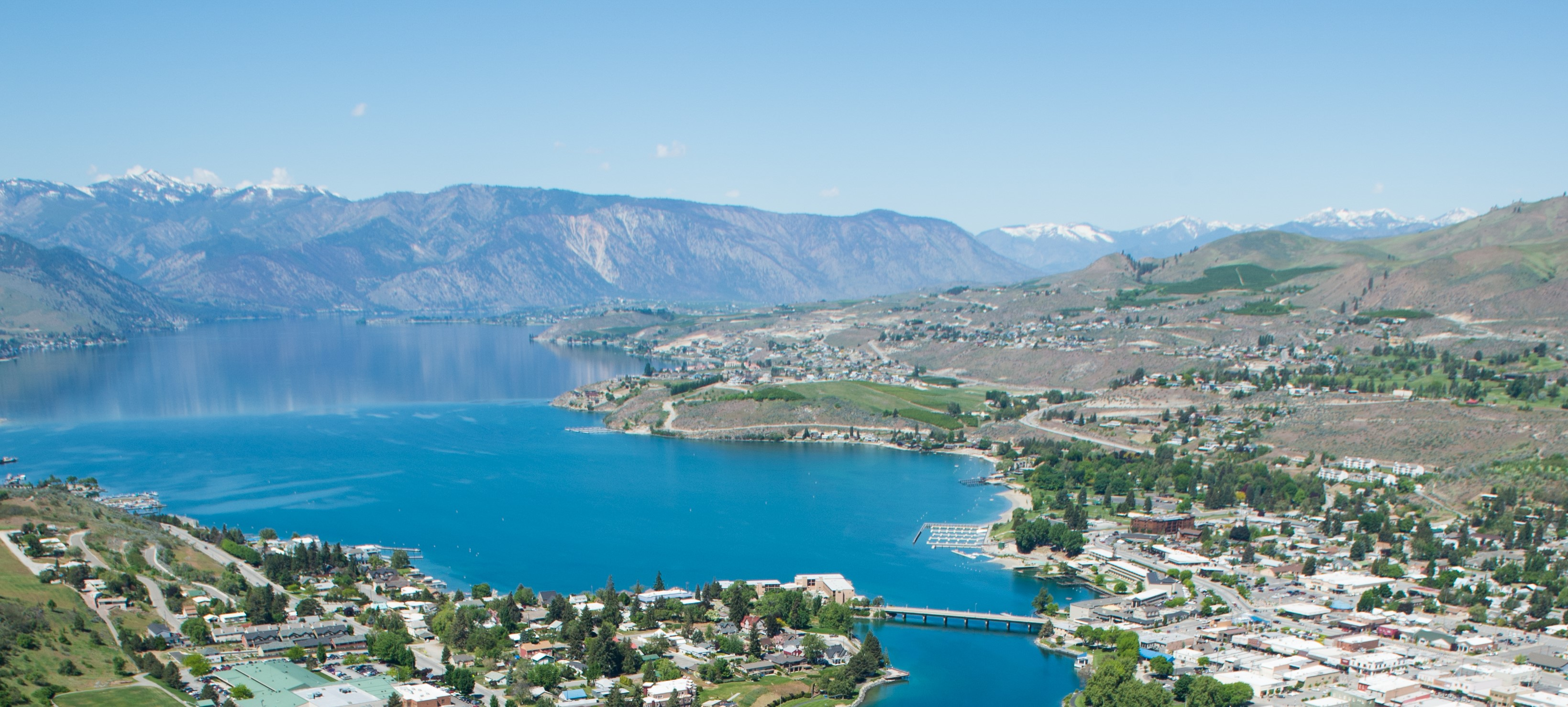 Aerial image of the North Shore of Lake Chelan