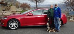Randy and Anne Brooks' lightly used red Tesla