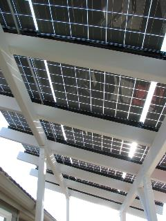 Photo of Jim Brown solar panels over deck