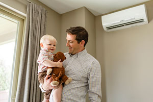 Photo of ductless heat pump