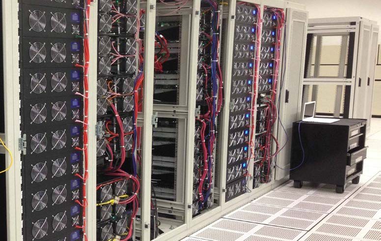 Photo of a bitcoin mine