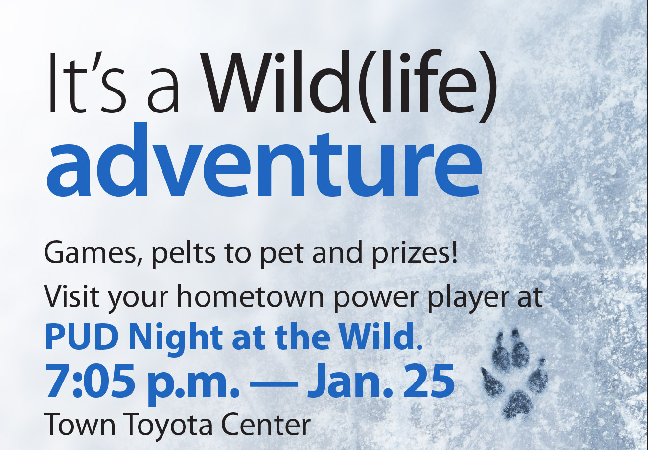 Join us Jan. 25 for Chelan PUD Night at the Wild
