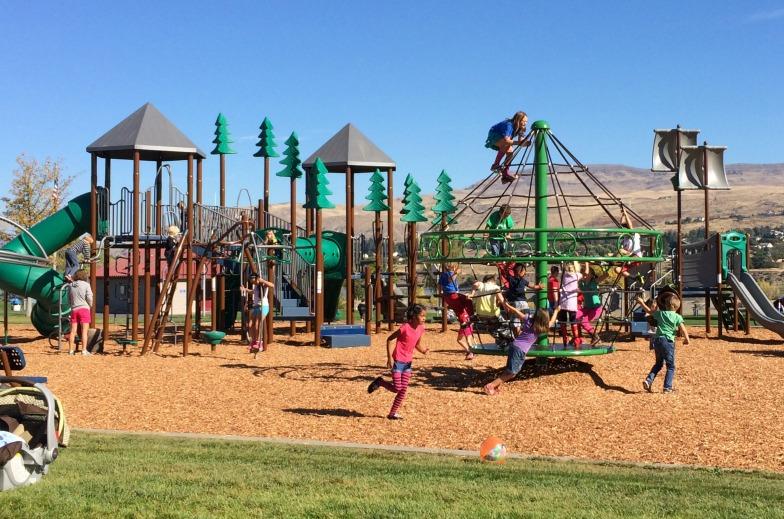Photo of the Walla Walla Point Park playground