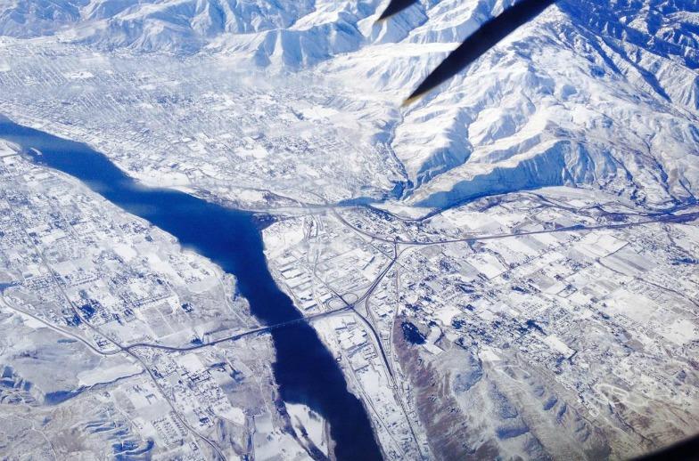 Aerial photo of Wenatchee, Washington