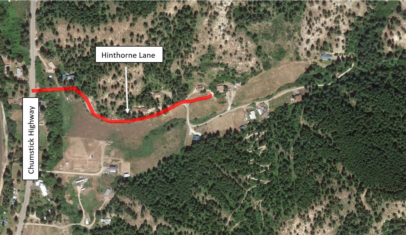 Map of cable replacement on Hinthorne Lane