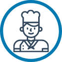 icon of commercial chef