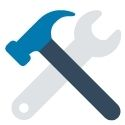 icon of hammer and wrench