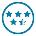 icon of 4.5 star rating