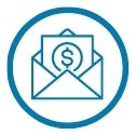 icon with money in envelope