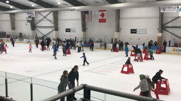 iFiber community ice rink at Town Toyota Center