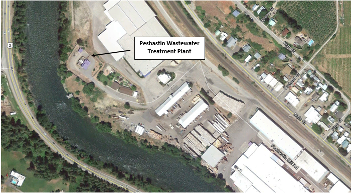 Map of Peshastin Wastewater Treatment Plant