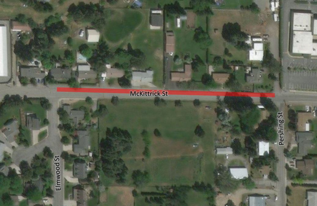 Map of McKittrick Street electrical upgrades in Wenatchee