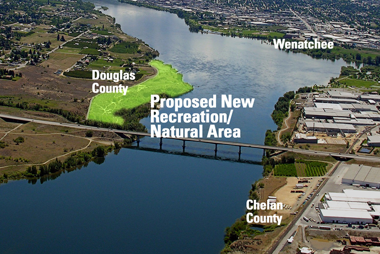 Graphic of new recreation/natural area