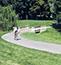Biker in park