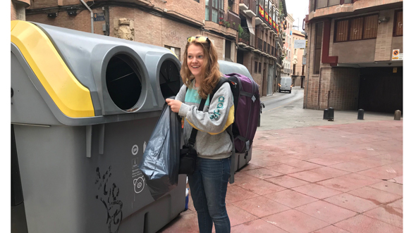 Recycling bins in Murcia