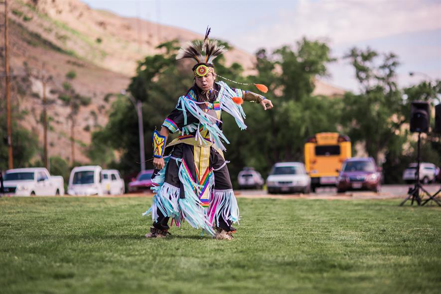 Image of Native American dancer