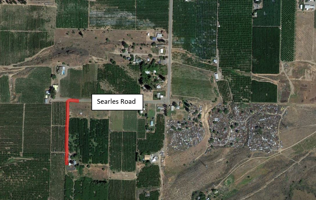 Map of cable replacement on Searles Rd