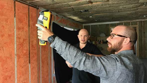 Thermal imaging to detect air leaks at Cashmere home