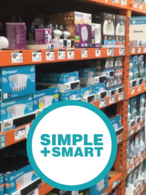 Simple+Smart lighting signs in Home Depot