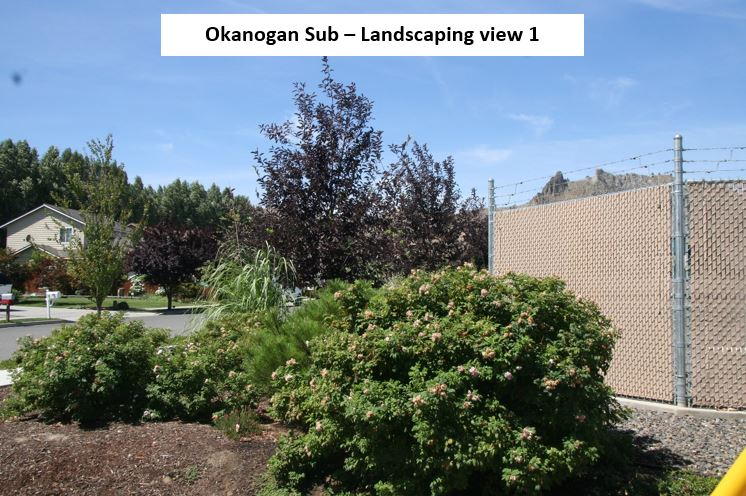 Photo of Okanogan Substation Landscaping