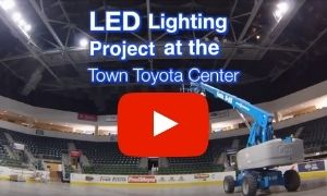 Town Toyota Center LED lighting project