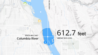 Columbia River elevation image